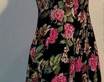 Rose Floral Summer Dress