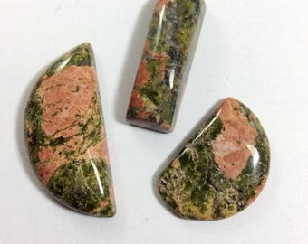 Unakite cabochons gemstone 10 to 28mm