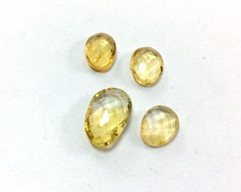 Citrin faceted gemstone 9 to 11mm