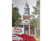 Wabash College LIMITED EDITION Pen and Ink and Watercolor Art Print Illustration - Graduation Gift, Alumni