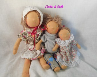 Family of Waldorf dolls
