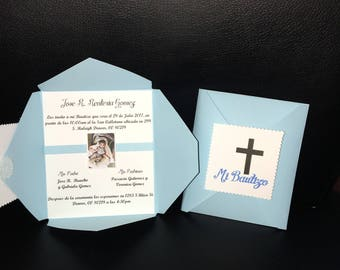 Baptism Invitations, Mi Bautizo, Invitaciones