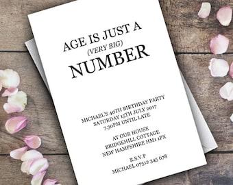 Geburtstags Einladung Personalisierte Einladung / Digital  Benutzerdefinierte Einladungen Lustige Modern / Jeder Alter / 21
