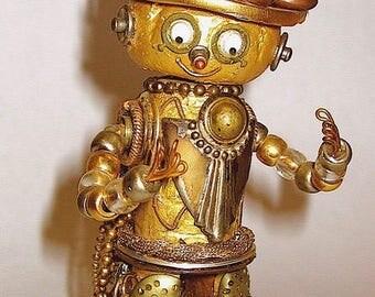 Upcycled Art Deco Robot