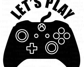 Let's play, Xbox Controller svg, xbox svg, controller svg, games svg, play svg, xbox one controller, xbox svg files, svg files