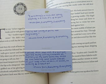 Everything, Everything paint chip bookmark