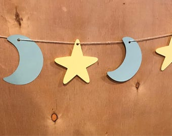 Stars and Moon Banner