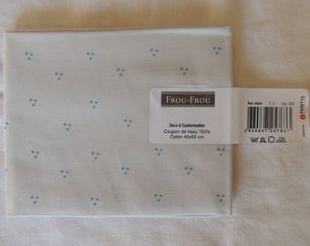 I Love sewing stitches blue clear/cloud pattern cotton fabric coupon