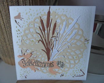 Wedding card for congratulations, wedding congratulations card