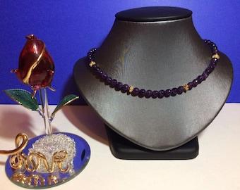 Amethyst Necklace  - Therapeutic  Healing gemstone February Birthstone