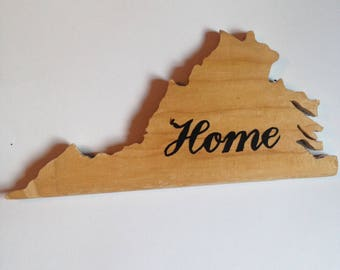 Virginia State Outline Recycled Skateboard