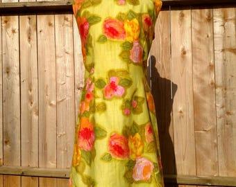 Vintage 1960's Tiki Dress by Alice Polynesian Fashions