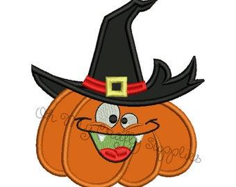 Silly Pumpkin Halloween Applique Design