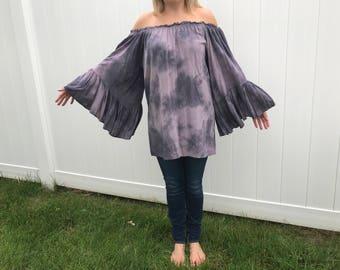 1970s Vintage Tye Dye Shirt, one size