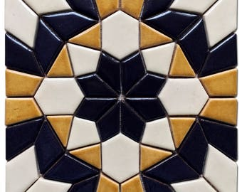 Fancy Geometry Mosaic Tile for Interior and Exterior Decoration / Handmade Ceramic / Wall Tiles / Home Decor / Mosaic Pattern / Mosaics