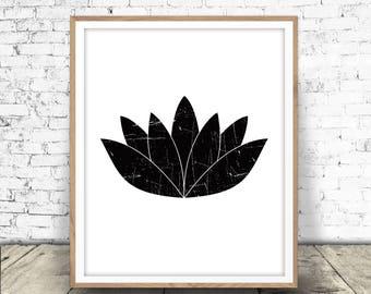 Lotus Flower Print, Yoga Art Printable, Yoga Decor, Lotus, Flower, Yoga Wall Art, Lotus Print, Lotus Printable, Yoga Print, Lotus Download