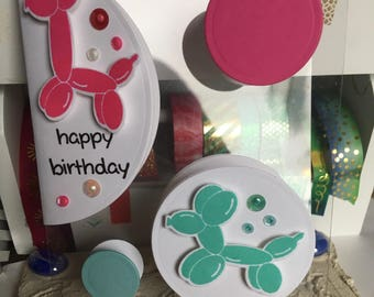 Birthday Card with Balloon Animals