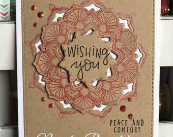 Mandala Sympathy Greeting Card