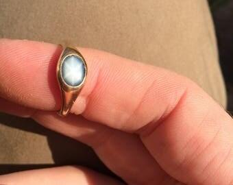 fine 1.5 carat Australian star sapphire in 18k rose gold
