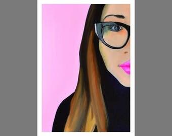 Pretty in Pink, Glicee Print, Fine Art A3