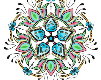Mandala Coloring Page - Lotus Flowers