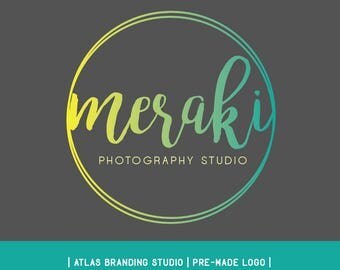 "Premade logo - circle, colour gradient, logo design, ""meraki"""