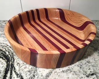 Decorative Bowl #10 - Purpleheart / Red Oak