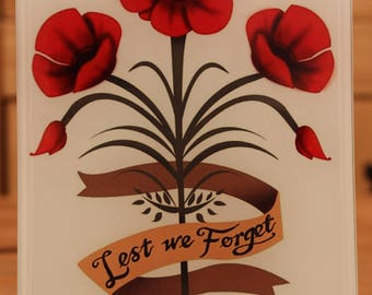 Lest we forget poppy glass photo picture