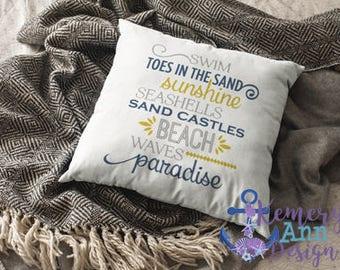 Nautical Throw Pillow Cover, Beach House Decor, Ocean House Throw Pillow, Beach Throw Pillow, Beach Saying Pillow Cover