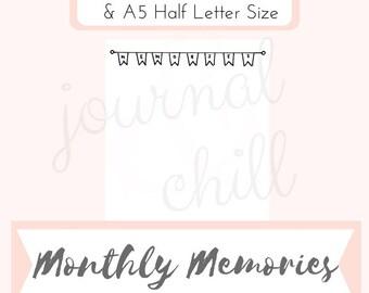 Monthly Memories: Bullet Journal Printable