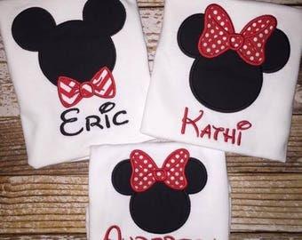 Disney Minnie and Mickey Shirts