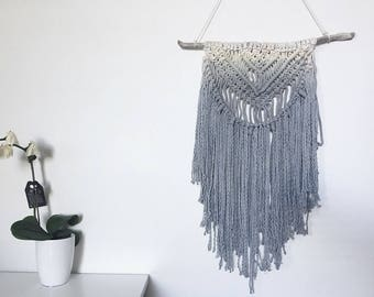 Hand dyed wall hanging Grey