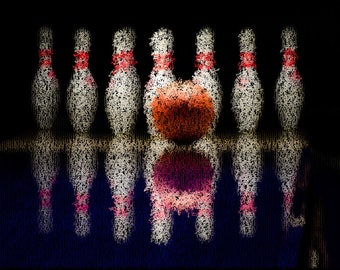 Bowling Photography Textured Background Instant Download