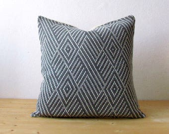 Wool decorative cushion cover / Knitted graphic pillow cover / Geometric pillow cover / minimalist home decor