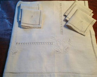 French linen table cloth