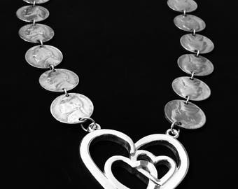 Nickel Heart Necklace/Choker