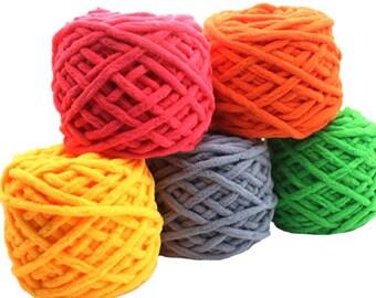 1pc Colorful Dye Scarf Hand-knitted Yarn For Hand knitting Soft Milk Cotton Yarn Thick Wool Yarn 95g