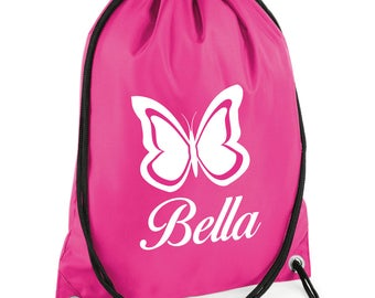 iLeisure Butterfly Print with your Name/Club Printed Gym/PE Dance Bag.