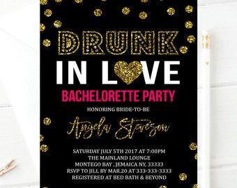 Drunk in love bachelorette party invitation, bachelorette party, drunk in love,bridal invite Drunk in Love Bachelorette Party Beyonce invite