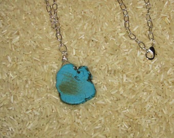 Turquoise Stone Necklace 24 inches