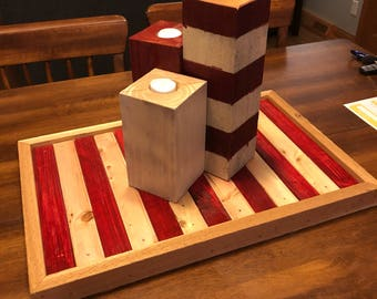 Wood block candles