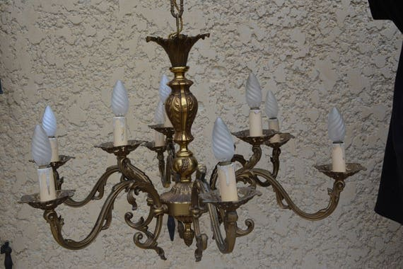 lustre louis xvi en bronze ann e 30 40. Black Bedroom Furniture Sets. Home Design Ideas