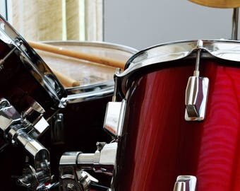 Red Drum Kit Photographic Print