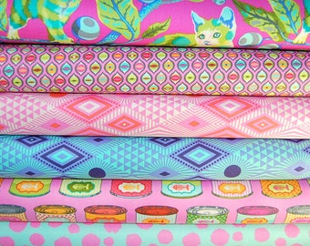 "Tula Pink for Free Spirit ""Tabby Road"" Collection Cotton Fabric Fat Quarter"