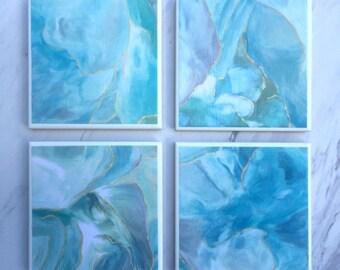 Blue Marble Coasters