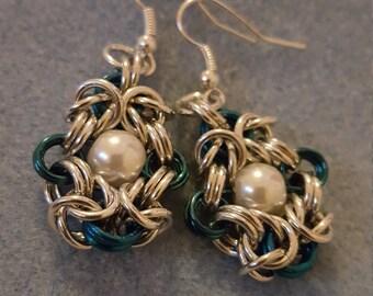 Beaded Romanov Chainmaille Earrings