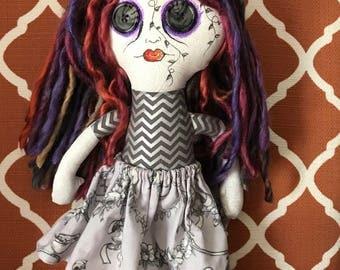 Sugar skull goth doll