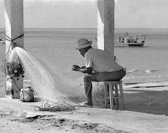 Original fine art photography print  - Fisherman and net