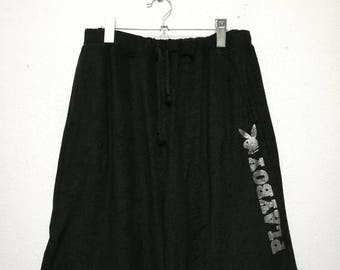 Vintage Playboy Big Logo Velvet Short Pants W-31 L-23
