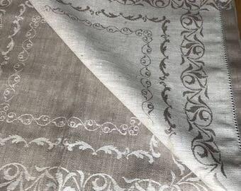 Linen Heritage Vintage Style Linen Napkins Set of 6 - 100% Linen